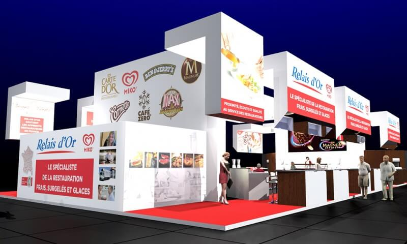 Stand grande surface