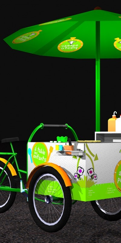 Scenographik - stand alimentaire mobile