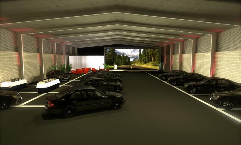 Exposition de voitures