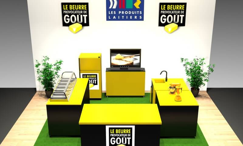 Stand produits laitiers