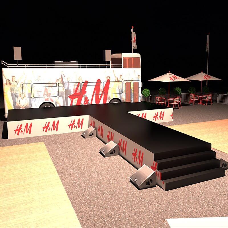 Scenographik - catwalk en 3D